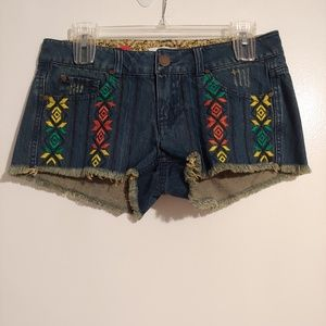 O'neill denim embroidered shorts sz 7